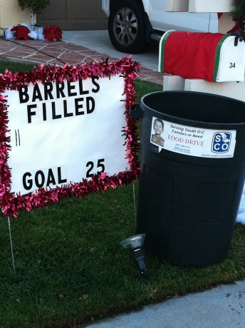 The donation barrel is available 24/7.